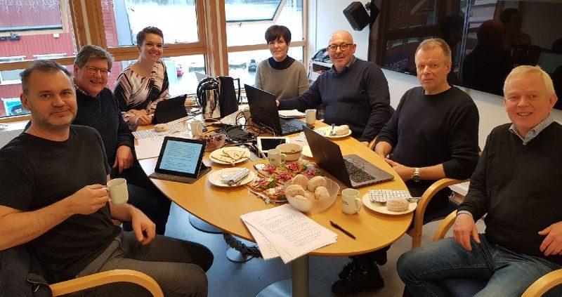 Foto av styret i Kystvegen Måløy – Florø AS 29. januar 2018.
