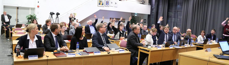 Bilete av fylketinget i Sogn og Fjordane.
